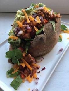 Fyldt sød kartoffel - Mexico style Opskrift af Dorte A - Cookpad