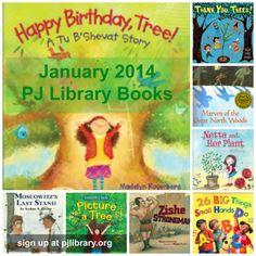 Tu B'Shevat books from PJ Library for January 2014