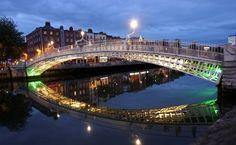 Ha'penny bridge, Dublin, Irlanda