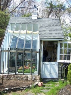 Greenhouse and garden shed