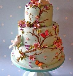 nature themed wedding cakes | nature themed wedding cake - love it! | Vintage Weddings - Sweet Trea ...