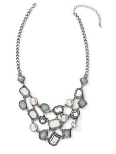 Alluring Faceted Gems Necklace- $32