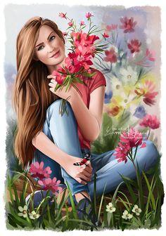 The wild flowers by Kajenna.deviantart.com on @DeviantArt