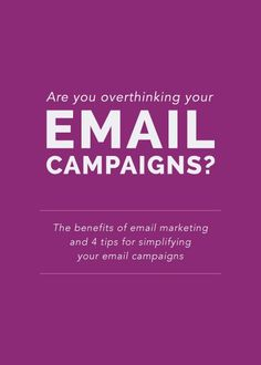 Email marketing. The sound or thought of that topic may not sound as appealing or exciting as sharing  photos on Instagram or posting 140 characters to Twitter,