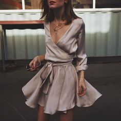 Silk Wrap Dress | I N S T A G R A M @EmilyMohsie