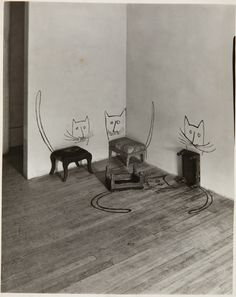 Untitled [Four Cats], 1950 Silbergelatineabzug 25,4 x 22,9 cm The Saul Steinberg Foundation, New York © The Saul Steinberg Foundation / VG Bild-Kunst 2013