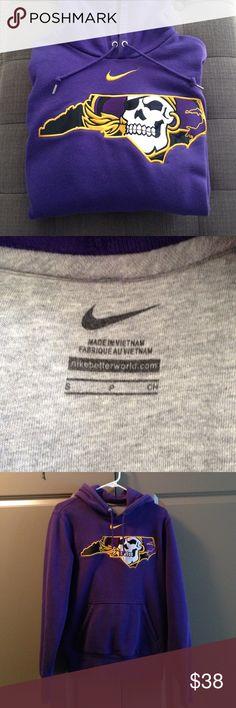 ECU Nike sweatshirt Purple Nike hoodie with stitched ECU Pirates logo Nike Jackets & Coats