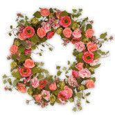 Found it at Wayfair - Mixed Flower Wreath