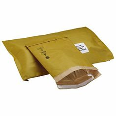 Padded, self-seal gold Jiffy bags - Manufactured from strong 90 gsm Kraft paper with recycled paper fibre lining. Green Bag, Envelopes, Seal, Recycling, Recyclable Packaging, Kraft Paper, Bags, Strong, Gold