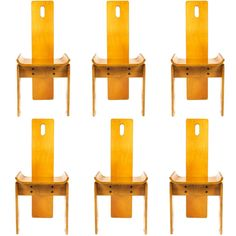 Set of Six 1970s Italian Dining Chairs | From a unique collection of antique and modern dining room chairs at http://www.1stdibs.com/furniture/seating/dining-room-chairs/