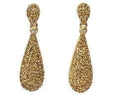 Earrings Drop earrings Diamonte` gold drops