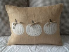 Pumpkin Pillow Cover by BeiFioriEmbellish on Etsy