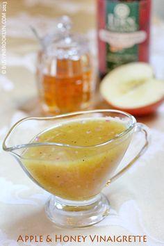Apple & honey vinaigrette salad dressing for Rosh Hashanah!