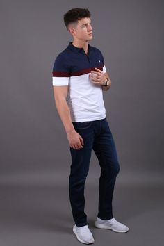 Jutland Short Sleeved White Polo Shirt Jutland Short Sleeved White Polo Shirt in Burgundy, Navy & Wine Our Jutland Short Sleeved White Polo Shirt features: Button down polo With contrasting chest panel, collar & buttoning Cotton- Cool Machine Wash Fashion Wear, Trendy Fashion, Mens Fashion, Groom Fashion, Casual Street Style, Work Casual, Modern Gentleman, Mens Style Guide, Sharp Dressed Man