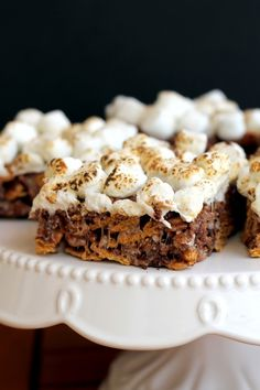 Chewy S'mores Bars (only 5 ingredients, and no bake!) | if you done like smores youre not real.