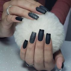 Heart Nail Designs, Black Nail Designs, Colorful Nail Designs, Toe Nail Designs, Black Nails, White Nails, Gorgeous Nails, Pretty Nails, Heavenly Nails