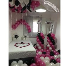 17, surprise party, and balloons image