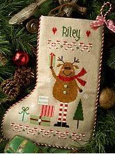 Reindeer Stocking is the title of this cross stitch pattern from Lizzie Kate and finishes as a full-size stocking. Please note ship date as this item will not ship to me until September 23rd and could delay an order with more current items. Plenty of time to order this one!