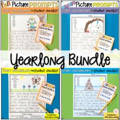 Fall Winter Spring Summer -Writing Picture Prompts BUNDLE My students love to write using these writing prompts! These prompts have a vocabulary word bank for each picture to naturally differentiate your writing center. Even my most emergent, timid writers shine using them! ***By purchasing the yearlong bundle you will save 25%***