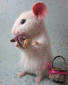 needle felt mouse hands - Google Search