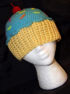 Blue Raspberry Crochet Cupcake Beanie by rainbowdreamfactory on DeviantArt  Gorras 7a1901a0987
