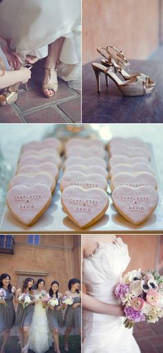 heart shaped inscribed cookies