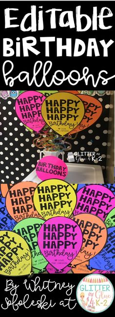 Fun and easy gifts for students! Birthday balloons! Just add a krazy straw! Keywords: birthday gifts, student gifts, elementary teachers, student birthdays, birthdays at school, teachers, birthday balloons, kindergarten, first grade, second grade third grade, celebrate student birthdays, back to school