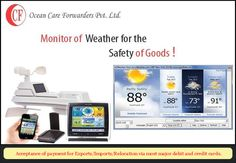 Ocean Care Forwarders monitor ‪#‎weather‬ for the ‪#‎safety‬ of goods while ‪#‎shifting‬.