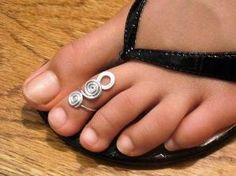 Sterling Silver Toe Ring Twisted Wire Wrapped by forkwhisperer, $15.00 by hester