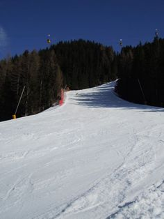 Gran Risa in Alta Badia where the famous and steepest men's ski giant slalom race is held every year.