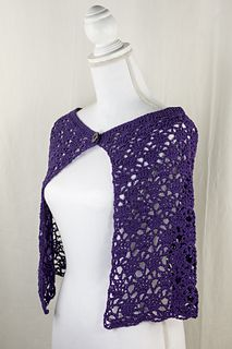Crown Capelet - free crochet pattern by Anna R. Simonsen for Cascade Yarns.