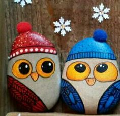 Pebble Painting, Dot Painting, Pebble Art, Stone Painting, Painted Rocks Owls, Owl Rocks, Stone Crafts, Rock Crafts, Rock And Pebbles