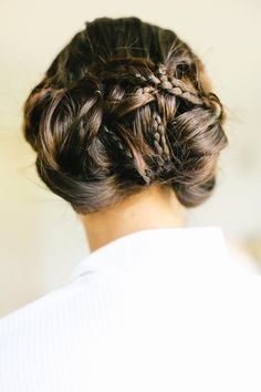 Braided Hairstyle | On Style Me Pretty:  http://www.StyleMePretty.com/2014/03/04/romantic-cotswolds-wedding-at-thyme-barn/ Photography: Belle And Beau Fine Art
