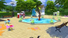 Mod The Sims: Froggy's Toddler Playground by Snowhaze • Sims 4 Downloads