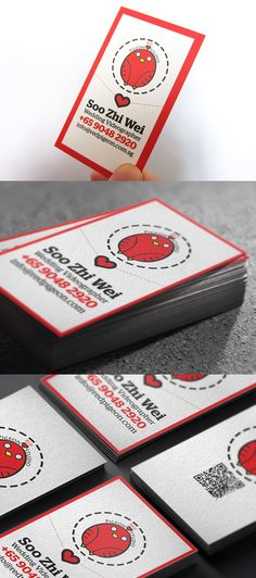 Cool Business Card - This business card design was designed for Red pigeon studio. Red pigeon studio is a company providing professional wedding videography services in Singapore. You can check out some of his wedding video at Red Pigeon Studio Fanpage.  Material used : 310GSM Woodfree  Printing: Off set printing  Special Effect: Spot UV (Back logo)