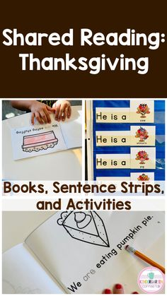 Thanksgiving shared reading is a low prep, fun way to practice sight words and beginning Reading skills in context. Thanksgiving Activities For Kindergarten, Kindergarten Blogs, Shared Reading, Guided Reading, Sentence Stems, Fall Cleaning, Beginning Reading, Teacher Organization, Reading Skills