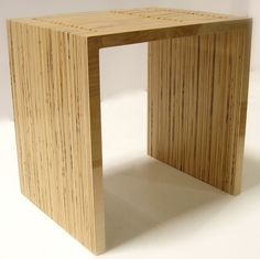 Stacked Plywood End Table