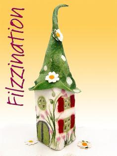 Filzleuchte ♥Rosalies Kindertraum♥ von Silvia Jacoby - Filzzination auf DaWanda.com
