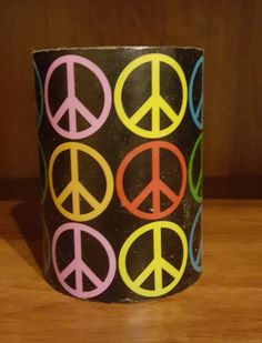 Peace Sign Wax Candle (Flame-less LED Lights)