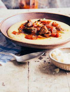 Italian Pork Ribs - Recipes   Tuttorosso Italian Pasta Dishes, Italian Pasta Recipes, Country Ribs Recipe, Pork Rib Recipes, Paleo Dinner, Meal Deal, Pork Ribs, Stuffed Peppers, Meals