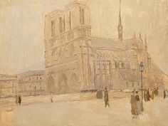 Notre Dame in Winter, n.d., Frank Edwin Scott, oil on canvas, 24 7/8 x 31 7/8 in. (63.1 x 81.1 cm), Smithsonian American Art Museum, Gift of Laura Dreyfus Barney and Natalie Clifford Barney in memory of their mother, Alice Pike Barney, 1952.13.121