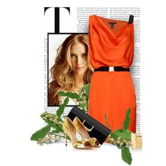 A fashion look from May 2013 featuring orange mini dress, metallic leather shoes and suede leather handbags. Browse and shop related looks. Style And Grace, My Style, Professional Outfits, Orange Blossom, Orange Dress, Fashion Looks, Gardens, Glamour, Polyvore