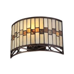 Wall Sconce...keeping with the stained glass.