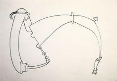 Eva Hesse, No title, 1965, Ink on paper