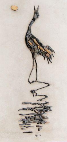 crane от PEBBLEMOSAICS на Etsy