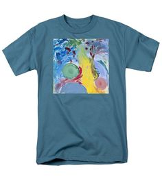Abstract Men's T-Shirt  (Regular Fit) featuring the painting Paradise by Noa Yerushalmi