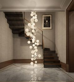 Creative Foyer Chandelier Ideas for Your Living Room  23 pics Interiordesignshome.com Nice chandelier in the foyer