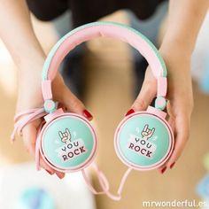 Auriculares wonder - You rock #mrwonderfulshop #headphones #auriculares #accessories #music                                                                                                                                                                                 Más