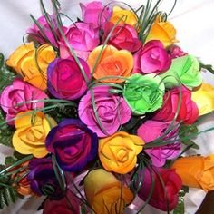 Our Half Blooming Mix Wooden Roses have 5 color options for you to choose from. Wooden Roses, Unique Roses, Open Rose, Floral Wreath, Bloom, Create, Flowers, Plants, Colors