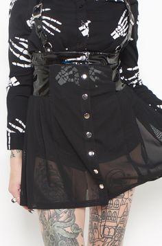 Sunday School Dropout Jumper Skirt (Black)